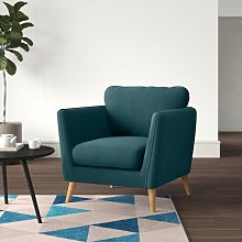 Mira Armchair Hykkon Upholstery Colour: Green