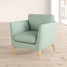 Mira Armchair Hykkon Upholstery Colour: Light Green