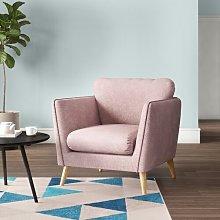 Mira Armchair Hykkon Upholstery Colour: Light Pink