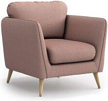 Mira Armchair Hykkon Upholstery Colour: Powder Pink