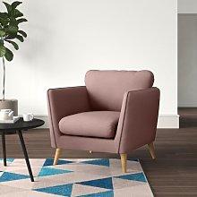 Mira Armchair Hykkon Upholstery Colour: Soft Pink