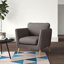Mira Armchair Hykkon Upholstery Colour: Tundora