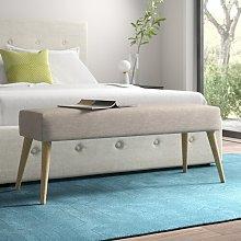 Mira Bench Hykkon Upholstery Colour: Beige