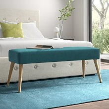 Mira Bench Hykkon Upholstery Colour: Green