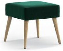 Mira Footstool Hykkon Upholstery Colour: Dark Green