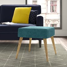 Mira Footstool Hykkon Upholstery Colour: Green