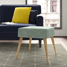 Mira Footstool Hykkon Upholstery Colour: Light