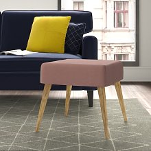 Mira Footstool Hykkon Upholstery Colour: Soft Pink