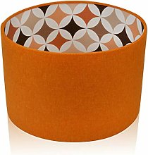 Mira Retro Orange Brushed Linen Style Drum