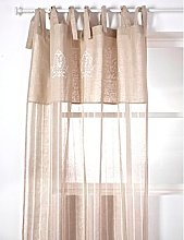 Mirabeau Linen Curtain with Embroidered Beaucaire