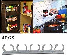 miraculocy 4PCS/Set Spice Jar Gripper Clips Strips
