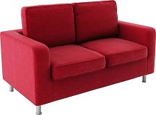Miral Loveseat Mercury Row Upholstery: Red