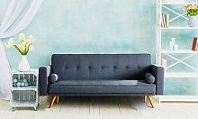 Miriam Fabric Sofabed: Grey