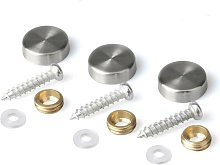 Mirror Screws 22mm Decorative Cap Covers Stainless