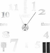 Mirror Sticker Clock, Wall Clock, Modern Design