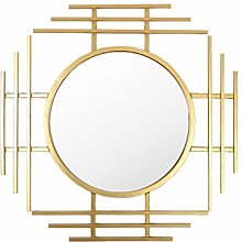 Mirror- Wall Mirror Large Metal Gold Round Wall
