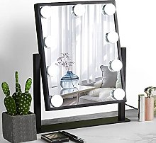 Mirror with large makeup mirror, intelligent touch