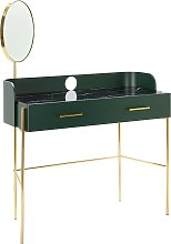 Mirrored Dressing Table - Green