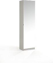 Mirrored Shoe Cabinet - Grey