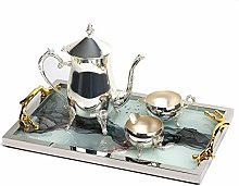 Mirrored Tea Tray and Coffee Table Tray Breakfast