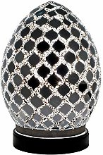 Mirrored Tile Mosaic Glass Vintage Egg Table Lamp