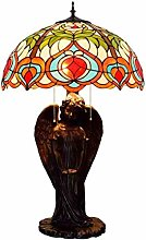 MISLD 20 Inch Tiffany Style Large Table Lamp,