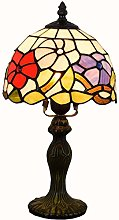 MISLD 8 Inch Tiffany Style Table Lamp Banker