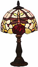 MISLD 8 Inch Tiffany Style Table Lamps European