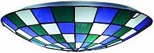 MISLD Ceiling Lamp, Tiffany Creative Bedroom Study