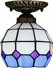 MISLD Ceiling Light Bowl Shade Tiffany Lamp Sconce
