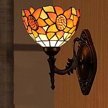 MISLD Retro Tiffany Style Wall Sconce Lamp Fixture