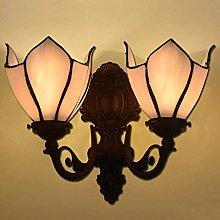 MISLD Simple Tiffany Glass Wall Lamp, Led