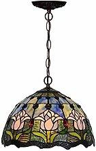 MISLD Tiffany Style Chandelier, Lighting Hanging