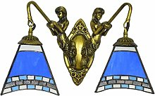 MISLD Tiffany Style Lamp With Mediterranean Blue