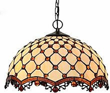 MISLD Tiffany Style Multicolor Stained-glass Lamp