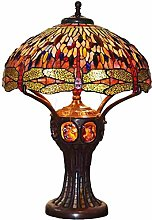 MISLD Tiffany Style Table Lamp, 20 Inch Stained
