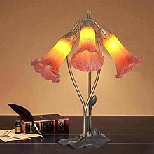 MISLD Tiffany Style Table Lamp, Stained Glass