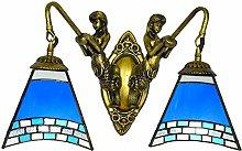 MISLD Tiffany Style Wall Lamp Personality