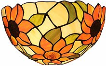 MISLD Tiffany Style Wall Lamp Stained-glass With