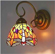 MISLD Wall Lamp Vintage Tiffany Style Wall Sconces