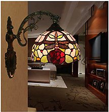 MISLD Wall Light Tiffany Style Handcrafted Glass