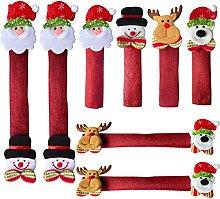MISNODE 8Pack - Christmas Fridge Handle Covers, 3D