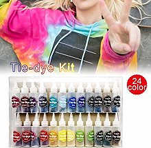 Mississ Tie Dye Kit, 24 Colors Tie-Dye Art Fabric