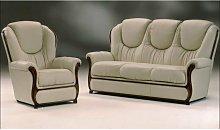 Mississippi Genuine Italian Leather Sofa Settee