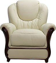 Mississippi Genuine Italian Sofa Armchair Cream
