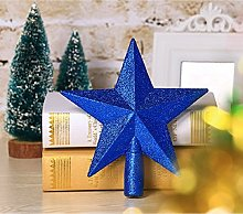 misslight Christmas Tree Topper Top Glitter Star
