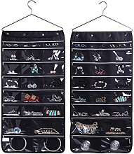 MISSLO 44 Zippered Pockets Hanging Jewellery