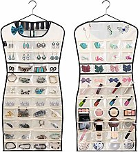 MISSLO Hanging Jewellery Organiser 80 Clear