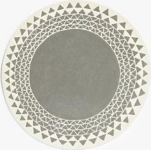 MissPrint Navajo Large Children's Rug, Grey,