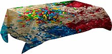 MissW 3D Abstract Printed Street View Tablecloth